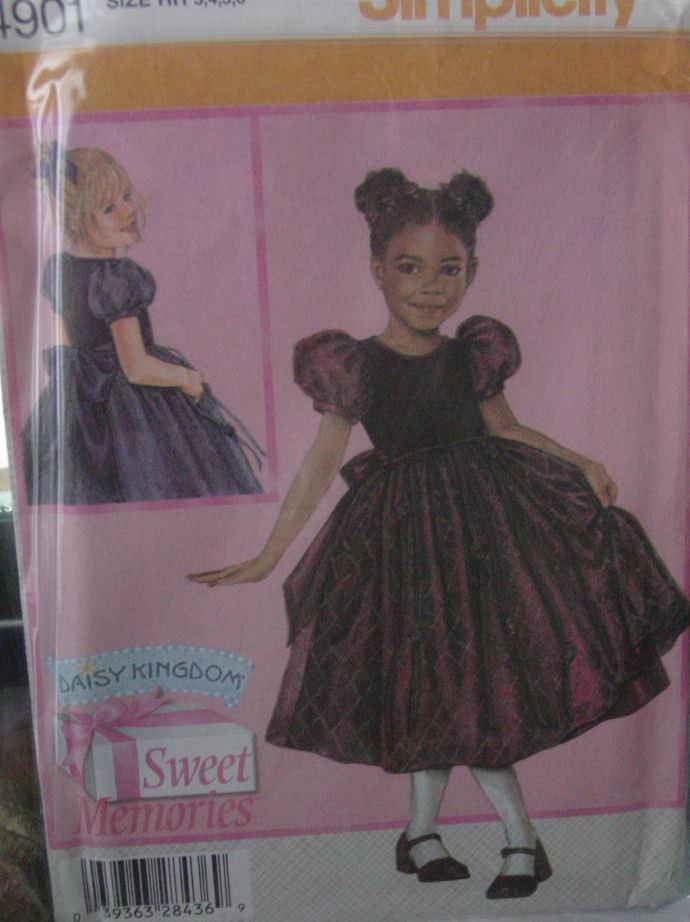 Pattern 4901 Girl's Fancy Dress sizes 3-6