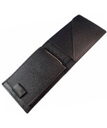 Leather Billfold Bifold Wallet Unisex Black Style #1 - $22.99