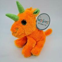 "NWT 8"" Winkeez Reggie Rhino Orange Green  Plush Stuffed Animal Toy Lovey... - $14.99"