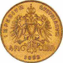 Austrian 4 Florins 10 Francs Gold Coin set in handcrafted 18K Solid Gold Brooch image 4