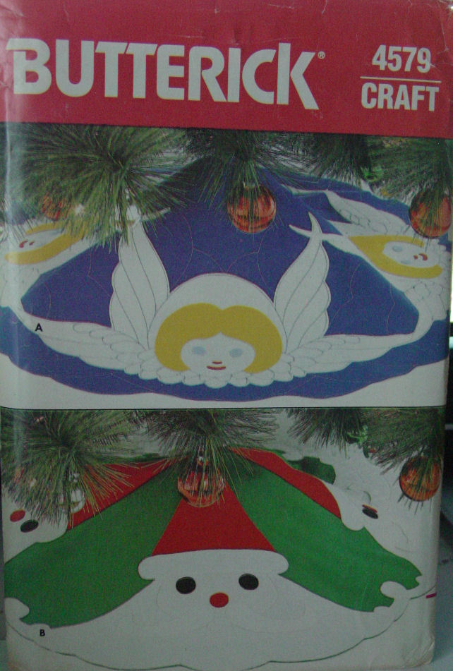 Vintage Pattern 4579 Two Felt Tree Skirts