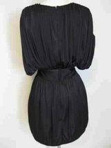 Black Sequin Deep V Cocktail Party Mini Dress image 4