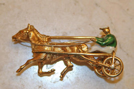 Trotter Horse 18K Solid Yellow Gold Pin Made in Italy image 1