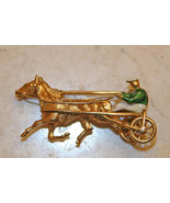 Trotter Horse 18K Solid Yellow Gold Pin Made in Italy - $1,250.00