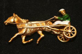 Trotter Horse 18K Solid Yellow Gold Pin Made in Italy image 3
