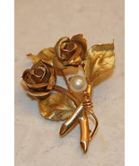18K Solid Yellow Gold Flower Brooch, Made in Italy - $1,200.00