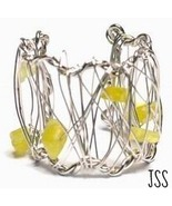 Unique Yellow Silver Wire Ring All Sizes - $13.98