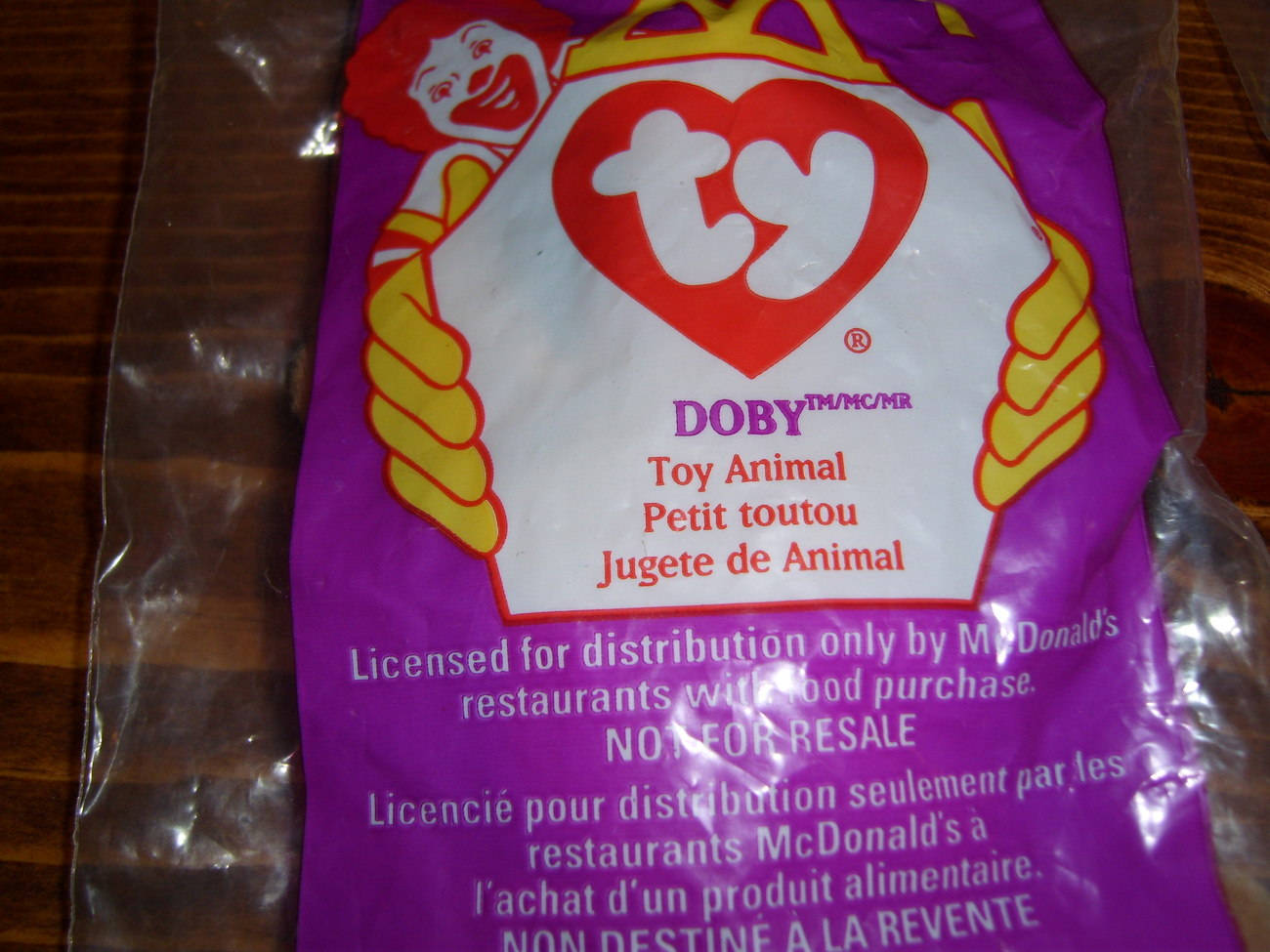 McDonald's beanie babies lot of 2 #1 and #4 happy meal toys