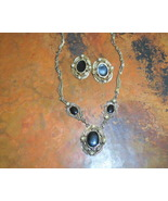 Black enamel and Pearl Victorian set - $14.00