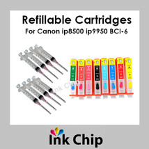 BCI-6 Refillable Ink Cartridges for Canon ip8500 i9950  - $28.80