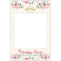 Little Princess Baby Shower Selfie Frame Social Media Photo Prop Poster - $16.34+