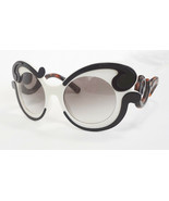 PRADA Women's Sunglasses PR-23NS Minimal Baroque Blk/Ivory MADE IN ITALY... - $211.50