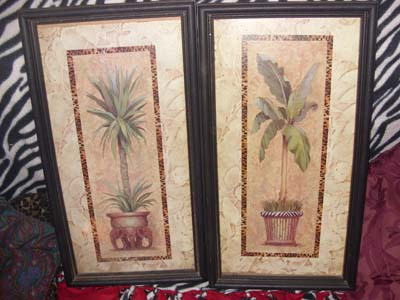 Home Interiors Gifts Potted Tropicals Framed Prints Retired Art Prints