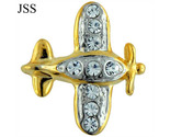 Jss airplane rhinestone vintage brooch pin thumb155 crop