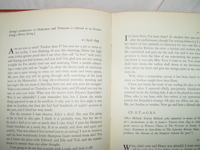 1931 Ellen Terry And Bernard Shaw  A Correspondence