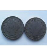 2 1912 D Liberty nickels (key date)  - €8,83 EUR