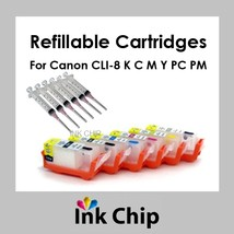 CLI-8 K C M Y PC PM Refillable Ink Cartridges for Canon  - $22.80