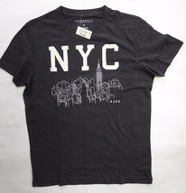 Aeropostale NYC Cityscape Black Embroidered Graphic T-Shirt Size Large R... - $8.33
