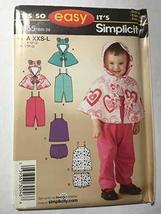 Simplicity 3655 Sewing Pattern, Babies' Overalls, Jumper, Panties, and Fleece Ca - $12.75