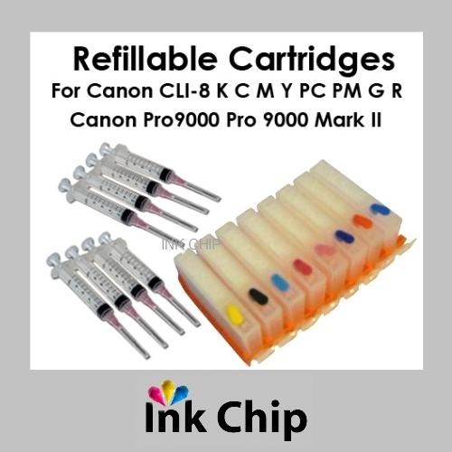 Refillable Ink Cartridges for Canon Pixma Pro 9000 CLI-8 - $28.80