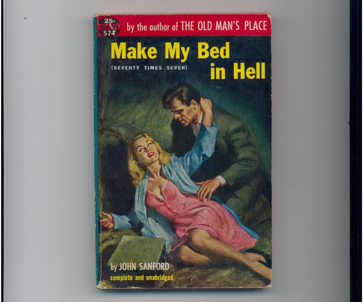 Sanford - MAKE MY BED IN HELL - 1954 - 1st paperback pr.
