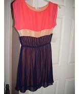 Emerald Sundae Lace Peach And Dark Blue Dress Size Junior XL - $35.00