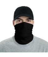 Black Tube Bandanna Neck Gaiter face mask and neck warmer - $21.95