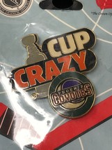NHL Phoenix Arizona Coyotes Stanley Cup Crazy VTG Logo Pin New NOS - $11.83
