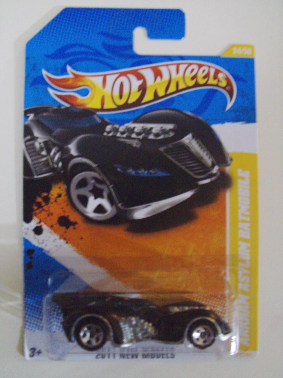 2011 New Models Hot Wheels Batman Arkham Asylum Batmobile car 24/50 - New