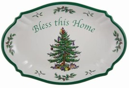 Spode Christmas Tree Bless this Home Tray 11 inch L x 7 inch W - $53.00