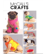 McCall's M5776 Dog Coats, Scarf And Leg Warmers Pattern S-XL - $10.00