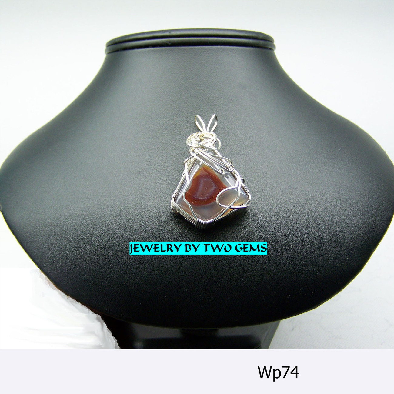 jewelry By Two Gems (Wp74) Sterling Silver Fancy Eye Agate P