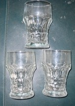 Anchor Hocking Georgian Clear Glasses ~ set of 3 - $9.00