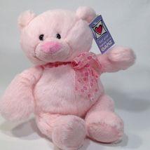 "GANZ Petunia Pink Teddy Bear Plush H8865 Floral Bow 10"" Stuffed Animal RARE !!! - $59.99"