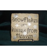 SnowFlake Ceramic Tile with Stand - $13.00