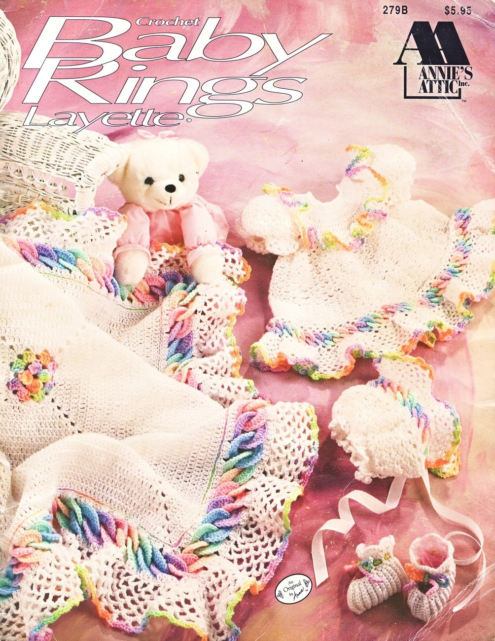 Baby Rings Layette Crochet Patterns Annies Attic Boy Girl Afghan Dress ...