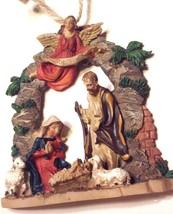 Christmas Ornament Nativity Holy Family Jesus in Manger Kurt Adler - $12.82