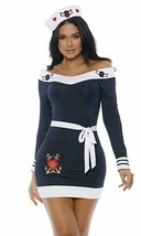 Forplay Beloved Marinaio Capitano Navy Sexy Adulto Donna Halloween Costume - $57.06