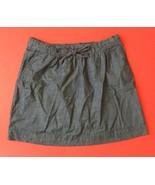 GH Bass & Co Chambray Skirt M Drawstring Elastic Waist Has Pockets Retro... - $14.84