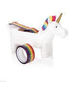 Unicorn Tape Dispenser with 2 x Rolls of Rainbow Tape - $14.84