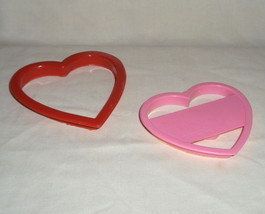 Valentine Heart Play-Doh Plastic Heart Shape Cutters