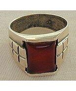 Red agate man ring B - $28.00