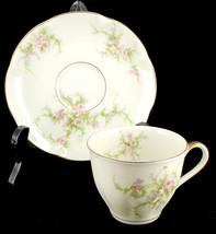 Vintage Theodore Haviland New York Demitasse Cup & Saucer Rosalinde Pattern - $35.99