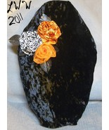 Handmade Crushed Black Velvet Gothic Rose Halloween Coffin Casket Throw ... - $24.99