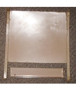 White Rotary Cabinet Metal Botton Oil Pan/Dust Cover & Door Tray wScrews - $10.00