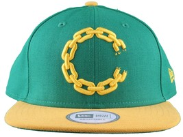 Crooks & Castles New Era Purple/Yellow or Khaki Chain C Snapback Hat image 2
