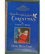 Hallmark Hung With Care  Christmas Stocking  Ornament 2001 - $5.99