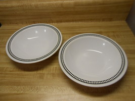 pyroceram bowls white and black wide rimmed bowls by corning - $18.95