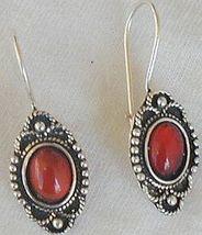 Mini red glass earrings thumb200