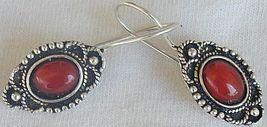 Mini red glass earrings 2 thumb200